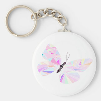 Geometric butterfly key ring