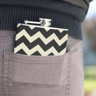 Geometric canteen hip flask