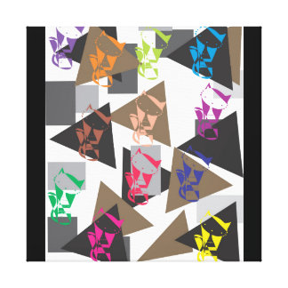 Geometric cat canvas print