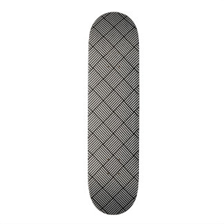 Geometric checked texture 19.7 cm skateboard deck