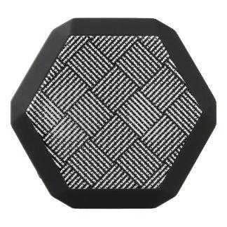 Geometric checked texture black bluetooth speaker