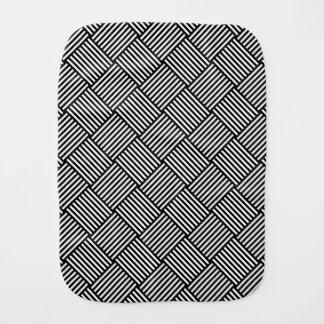 Geometric checked texture burp cloth