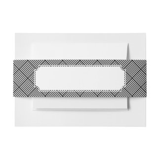 Geometric checked texture invitation belly band