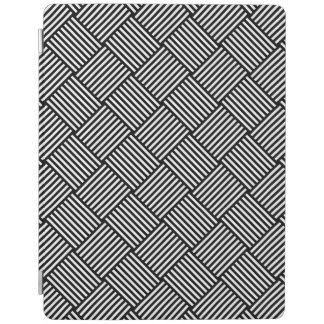 Geometric checked texture iPad cover