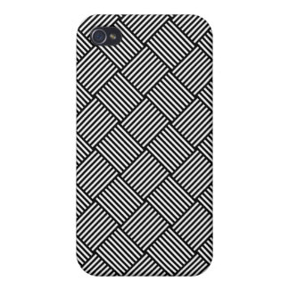 Geometric checked texture iPhone 4 case