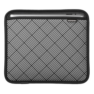 Geometric checked texture sleeve for iPads