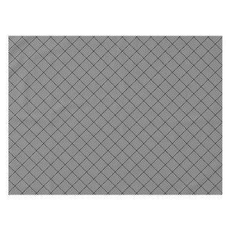 Geometric checked texture tablecloth
