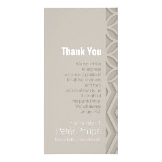 Geometric Choose Color 3 Sympathy Thank You Personalised Photo Card
