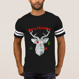 Geometric Christmas reindeer Men's t-shirt