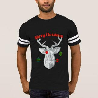 Geometric Christmas reindeer Men's t-shirt