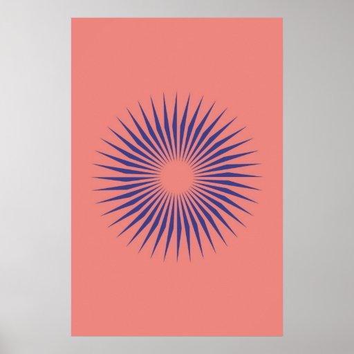 Geometric Circle Flower Posters