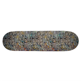 Geometric City Shapes Skateboard Deck