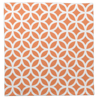 Geometric Cloth Napkin in Celosia Orange