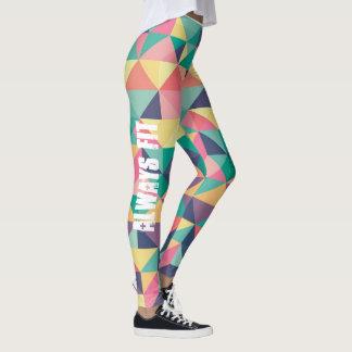 Geometric Color Leggings