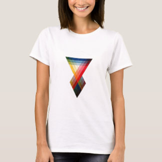 Geometric Color Rainbow Pattern T-Shirt