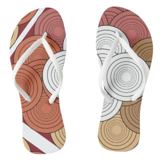 geometric colored straps flip flops