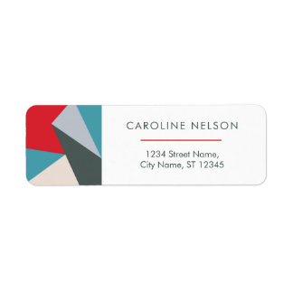 Geometric Colorful Modern Abstract Address Labels