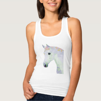 Geometric Colorful Neon Horse Tank Top