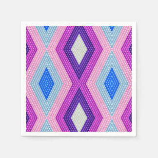 Geometric colorful Pattern Paper Napkin