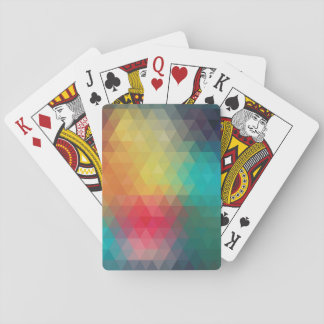 Geometric colors playing cards