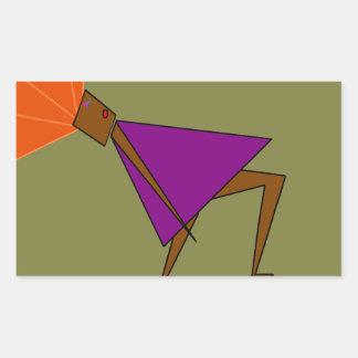 Geometric dance rectangular sticker