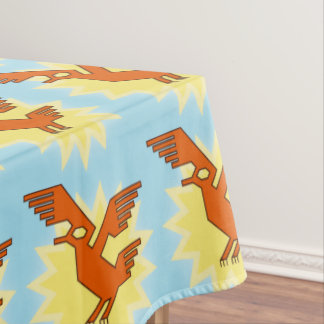 Geometric Decorative Andean Condor Bird Tablecloth
