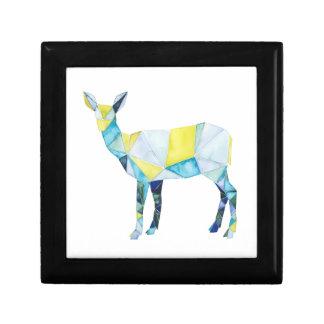 Geometric Deer Animal Small Square Gift Box