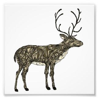 Geometric deer art geometric rustic woodland decor photo art