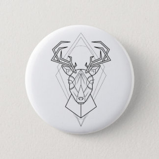 Geometric - Deer Button