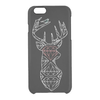 Geometric Deer Phone Case Black