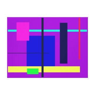 Geometric Design Blue Square Canvas Print