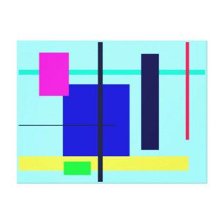 Geometric Design Blue Square Gallery Wrap Canvas