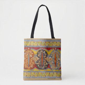 geometric design, fall colours, stunning tote bag