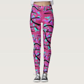 Geometric Design on Hot Pink - Leggings
