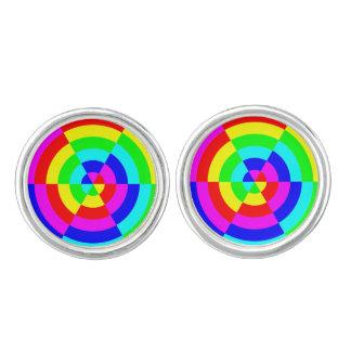 GEOMETRIC DESIGN (RAINBOW COLORS) Cufflinks