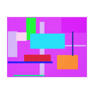 Geometric Design Rectangles Stretched Canvas Print