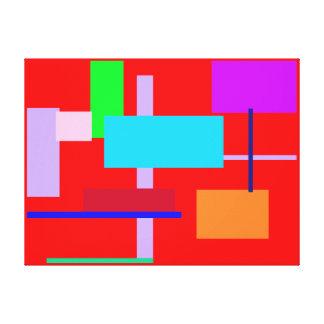 Geometric Design Rectangles Canvas Print