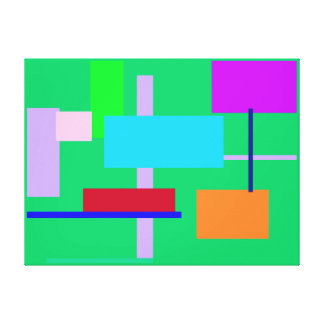 Geometric Design Rectangles Canvas Prints