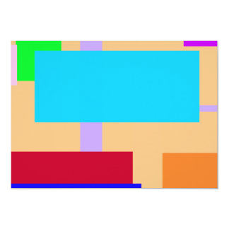 Geometric Design Rectangles Navajo White 13 Cm X 18 Cm Invitation Card