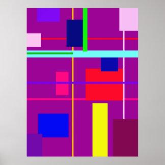 Geometric Design Rectangles Poster