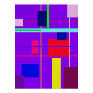 Geometric Design Rectangles Poster
