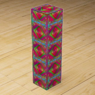 Geometric Design Wine Gift Box