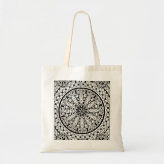 geometric design with patterns tote bag