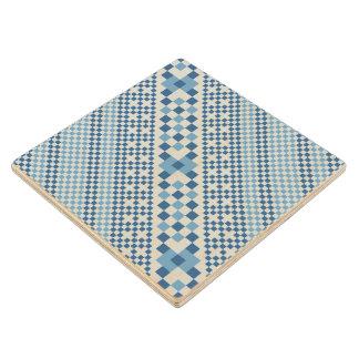 Geometric Design Wood Coaster