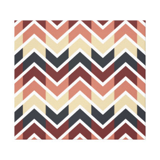 Geometric Designs Color Wine Teal Beige Salmon Gallery Wrap Canvas