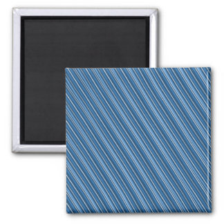 Geometric Diagonal Stripes Square Magnet