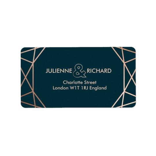 Geometric Diamond Elegant Wedding  Address Labels