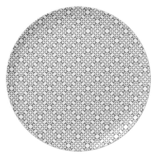Geometric Diamond Pattern Plate