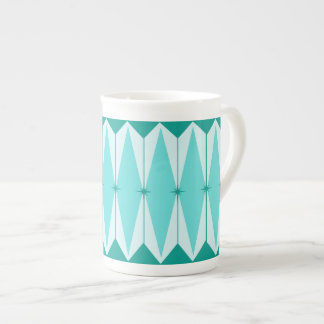 Geometric Diamonds & Starbursts Bone China Mug