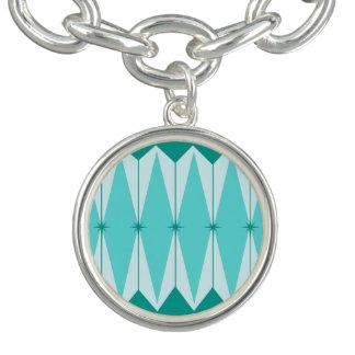 Geometric Diamonds & Starbursts Charm Bracelet